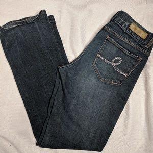 SEVEN 7 Jeans 32 Women Bootcut Dark Wash Embellish